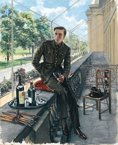 Rex Whistler: Self-portrait in Welsh Guards uniform, May 1940
