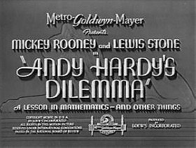 Andy Hardy's Dilemma: A Lesson in Mathematics - And Other Things (1940)