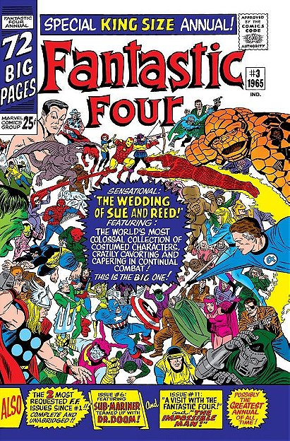Reed Richards and Sue Storm's Wedding (1965) – Fantastic Four Annual #3