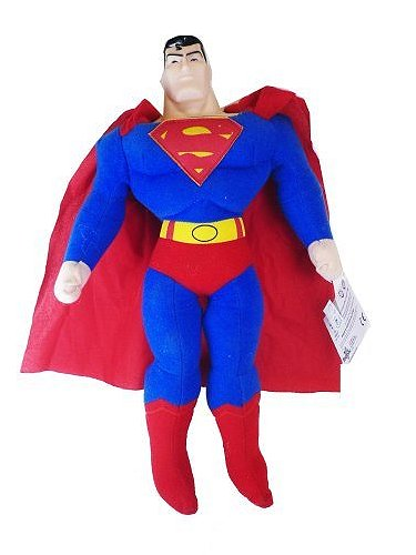 Justice League Superman Plush Doll with Plastic Head