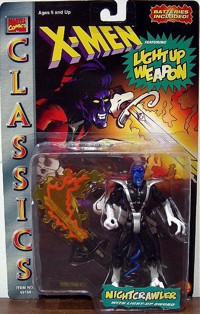 X-Men - Classic Light Up Weapons Nightcrawler Black/Silver Action Figure