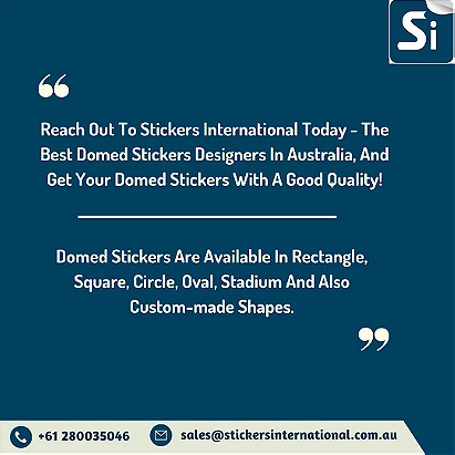 Rectangle Domed Stickers