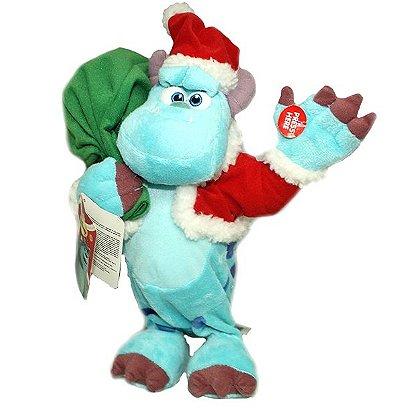 Disney Pixar Monsters Inc. Sulley Santa Christmas Dancing Musical Toy Doll Plush