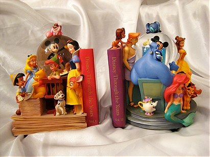 The World of Disney Bookends Snow Globe Set