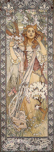 Alphonse Mucha: Maud Adams as Joan of Arc (1909)