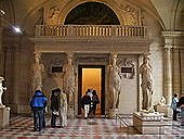Salle des Caryatides at the Louvre Museum, Paris