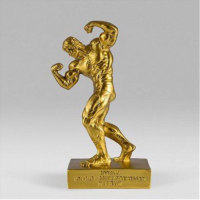 Official Arnold Schwarzenegger Museum Gold Statue