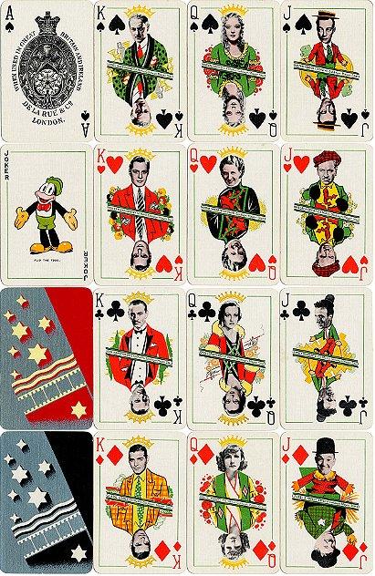 1933 Thomas De La Rue MGM Film Stars Playing Cards