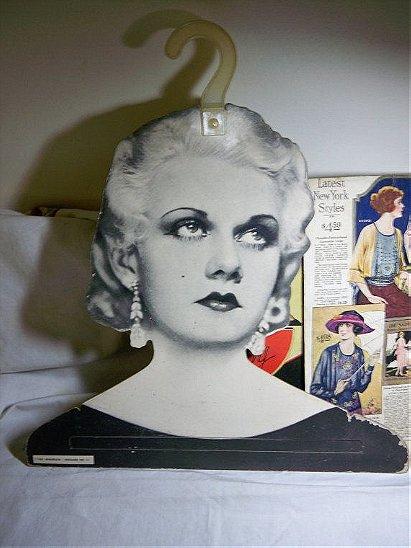 1960s Henderson Hoggard Jean Harlow Face Hanger