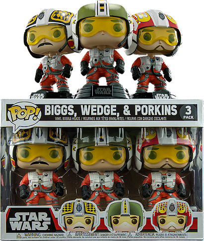 Funko Pop! Star Wars: Biggs, Wedge, & Porkins 3-Pack