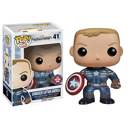 Captain America The Winter Soldier Pop!: Captain America Unmasked (Toy Matrix Exclusive)