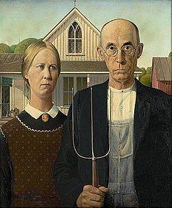 Grant Wood: American Gothic (1930)